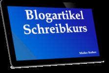 Blogartikel Schreibkurs - Blogbeiträge schreiben lernen